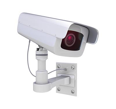 トラックの様子を確認する監視カメラシステム
