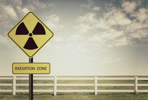 放射能汚染地域の標識